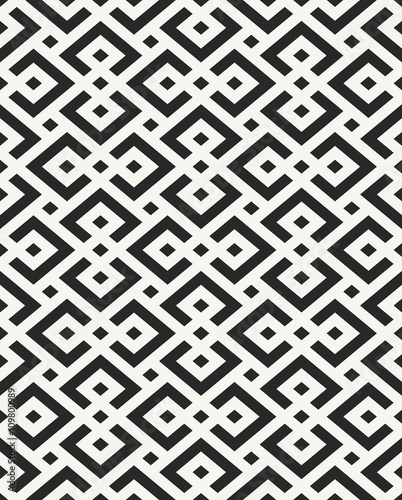 Traditional African textile design, structure of repeating geome - 109800989