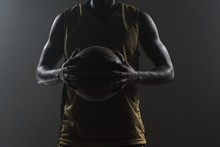Close Up On Basketball Player ...