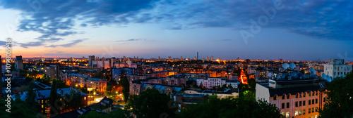 Foto op Plexiglas Kiev Podol overlook at dusk in Kiev