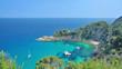 canvas print picture - malerische Bucht an der Costa Brava nahe Tossa de Mar,Katalonien,Spanien