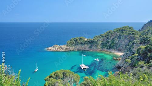 Poster de jardin Europe Méditérranéenne malerische Bucht an der Costa Brava nahe Tossa de Mar,Katalonien,Spanien