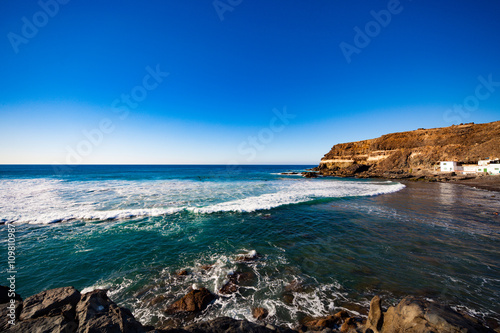 In de dag Canarische Eilanden Rocky coast of the Canary Islands