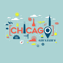 Chicago Icons And Typography D...
