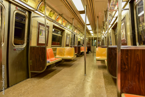 Fotografie, Obraz  NYC Subway Car Interior
