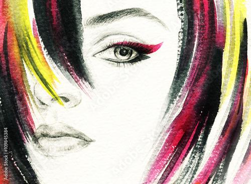 twarz-pieknej-dziewczyny-z-kolorowymi-pasemkami-wlosow