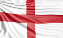 Flag Of England, 3d Illustrati...