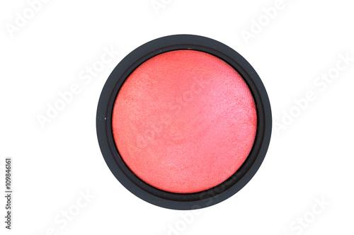 Fotografía  face powder blush isolated on white background
