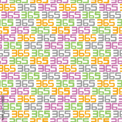 Fényképezés  365 background. Seamless pattern.Vector.365のパターン