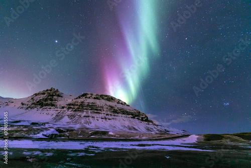 Poster de jardin Aurore polaire Aurora borealis Iceland
