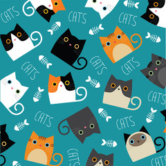 Fototapeta Kot Cute cats