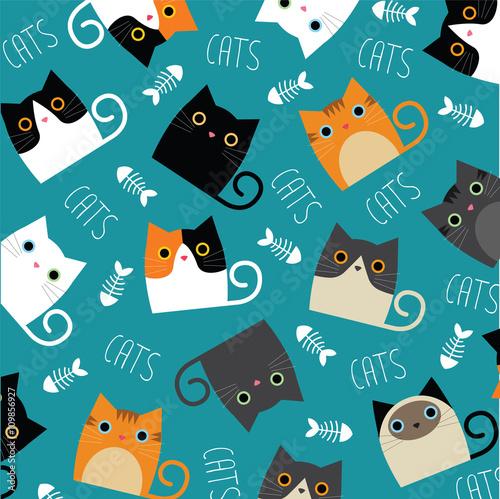 Cute cats - 109856927