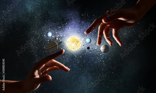 Foto Idea of creation and genesis