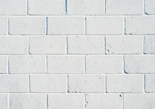 Whitewashed Breezeblock Wall C...