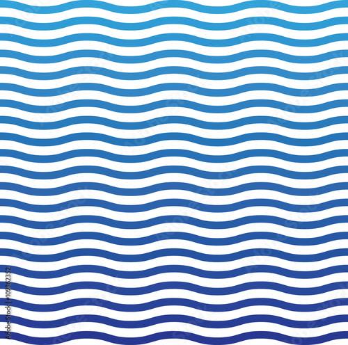 Zdjęcie XXL Fala niebieski wzór. Fala tło w wektorze