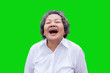 Leinwandbild Motiv asian woman laugh with happy time