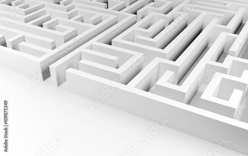 Valokuva  Maze background, complex problem solving concept