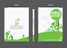 Green Cover Template Vector Il...