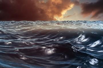 Fototapeta Morze Composite image of blue rough ocean