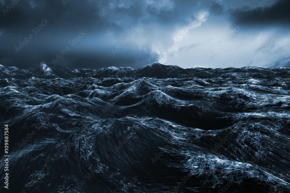 Fototapety, obrazy: Composite image of rough blue ocean