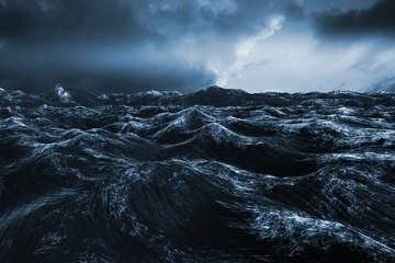 Fototapeta Morze Composite image of rough blue ocean