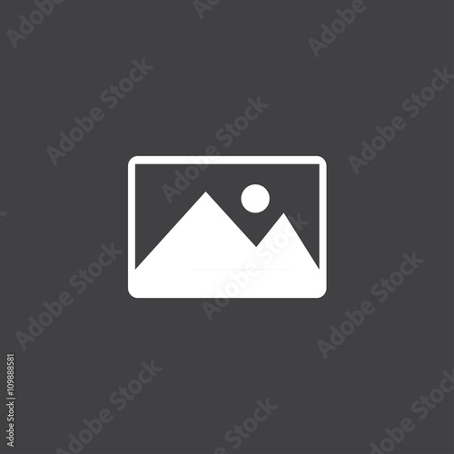 Picture, Flat modern vector icon Wall mural