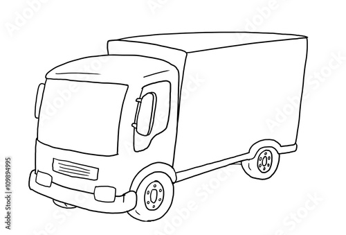 ausmalbild lkw - buy this stock illustration and explore