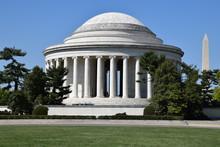 Thomas Jefferson Memorial And Washington Monument In Washington, DC
