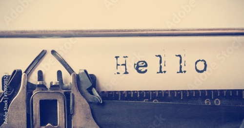 Composite image of the word hello Tableau sur Toile