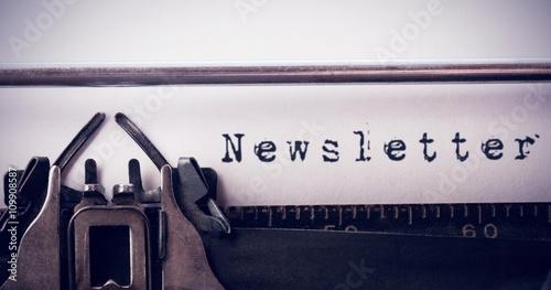 Fototapeta Composite image of the word newsletter against white background obraz