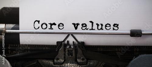 Fototapeta Composite image of core values message obraz