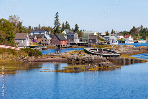 Carta da parati Fishing village of Blue Rock Nova Scotia NS Canada