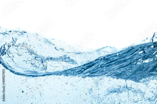 Blue water wave abstract background