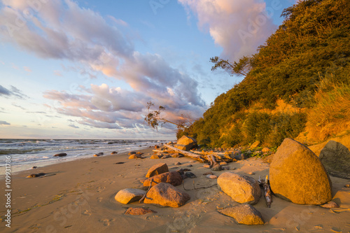 Printed kitchen splashbacks Australia Baltic sea during autumn evening