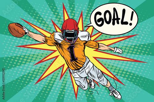 American football athlete ball goal - 109932941