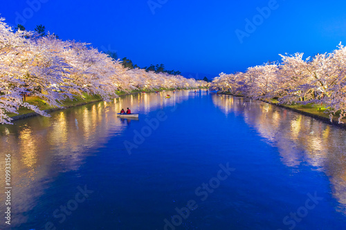 Photo Stands Dark blue 弘前公園の夜桜