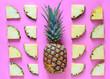 Leinwanddruck Bild - Pineapple on a stylized bright background