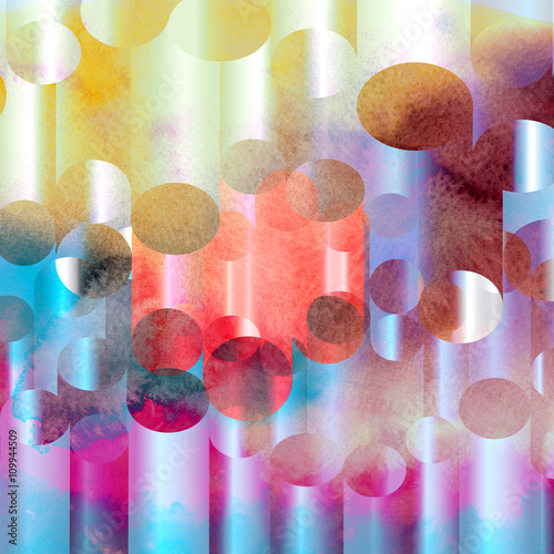 abstract watercolor geometric background - 109944509