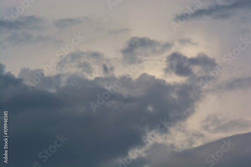 Fotografie, Obraz  Dramatic stormy clouds sky background