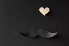 Paper Black Mustache With Smal...