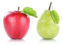 Apfel Und Birne Frucht Früchte Obst Freisteller Freigestellt Is