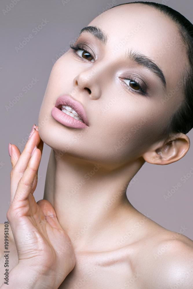 Fotografie, Obraz  Dámské make-up jako umění