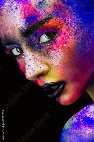 Obraz na plátně  Dámské make-up jako umění