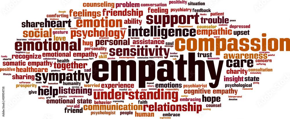 Fototapeta Empathy word cloud concept. Vector illustration