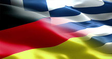 Germany And Greece Flag