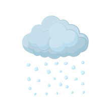 Cloud And Hail Icon, Cartoon S...