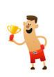 cartoon character cheerful boxer fun