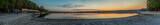 Panorama na jezioro Paprocańskie - zachód słońca