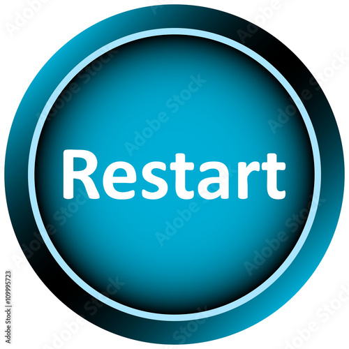 icon white blue word restart buy this stock vector and explore similar vectors at adobe stock adobe stock icon white blue word restart buy this