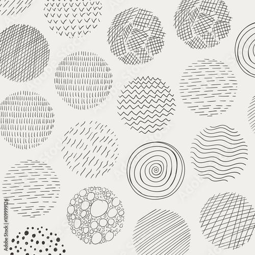 wektorowa-ilustracja-abstrakcjonistyczni-doodle-okregi