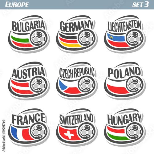 Vector Logo For European Football Soccer Bulgaria Germany